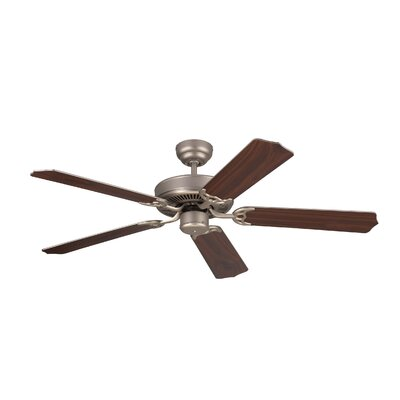 52 Holtby 5 Blade Ceiling Fan with Remote Finish: Brushed Pewter