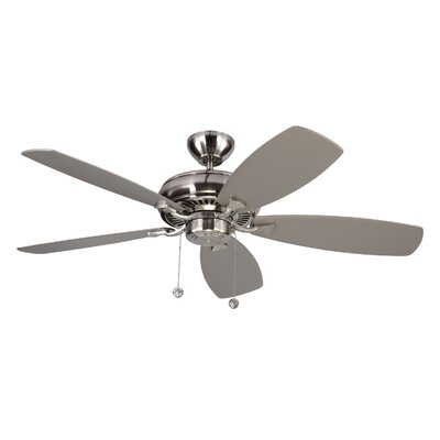 52 Dobson 5 Blade Ceiling Fan with Remote Finish: Brushed Steel