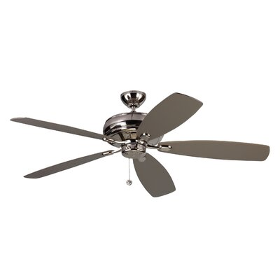 60 Hammersdale 5 Blade Ceiling Fan with Remote Finish: Polished Nickel