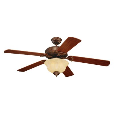 52 Beaudet 5 Blade Ceiling Fan Color: Tuscan Bronze
