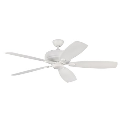 60 Hammersdale 5 Blade Ceiling Fan with Remote Finish: Matte White