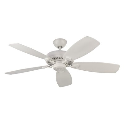 52 Tenbury 5 Blade Ceiling Fan with Remote Finish: Matte White
