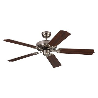 52 Holtby 5 Blade Ceiling Fan with Remote Finish: Brushed Steel
