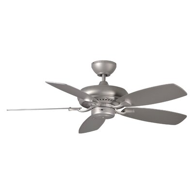 44 Tenbury 5 Blade Ceiling Fan with Remote Finish: Brushed Pewter