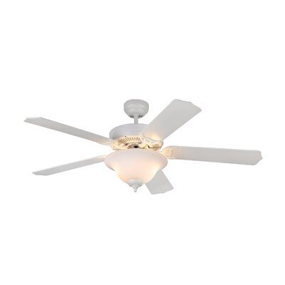 52 Beaudin 5 Blade Ceiling Fan Finish: Matte White