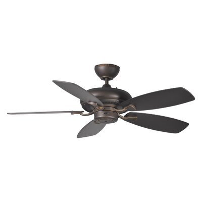 44 Tenbury 5 Blade Ceiling Fan with Remote Finish: Roman Bronze