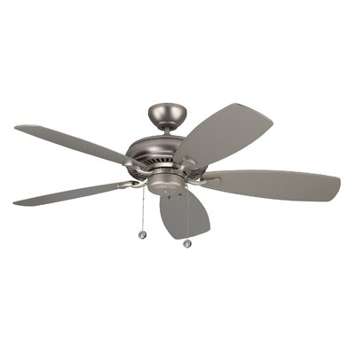52 Dobson 5 Blade Ceiling Fan with Remote Finish: Brushed Pewter