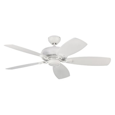 52 Dobson 5 Blade Ceiling Fan with Remote Finish: Matte White