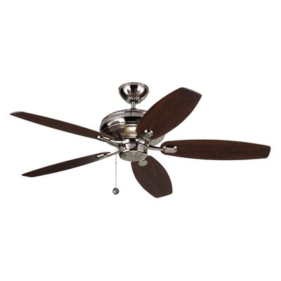 52 Hale 5 Blade Ceiling Fan with Remote Finish: Polished Nickel