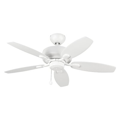 54 Hale 5 Blade Ceiling Fan with Remote Finish: Matte White