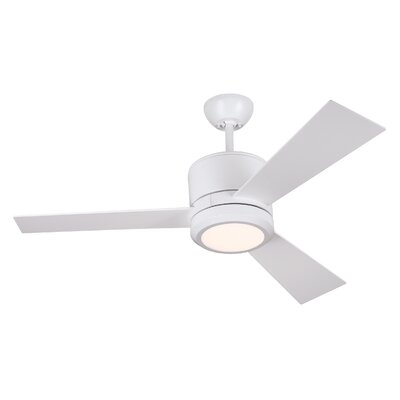42 Fort Hamilton 3 Blade LED Ceiling Fan with Remote Finish: Matte White