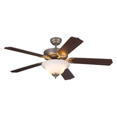 52 Beaudin 5 Blade Ceiling Fan Color: Brushed Pewter