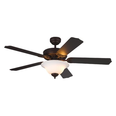 52 Beaudin 5 Blade Ceiling Fan Finish: Roman Bronze