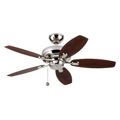 54 Hale 5 Blade Ceiling Fan with Remote Finish: Polished Nickel