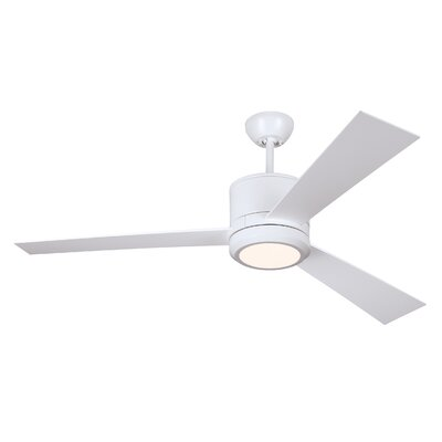 52 Fort Washington 3 Blade LED Ceiling Fan with Remote Finish: Matte White