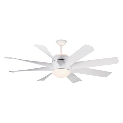 56 Zawacki 8 Blade Ceiling Fan with Remote Finish: Matte White