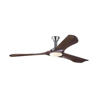 72 Annsley 3 Blade LED Ceiling Fan with Remote Finish: Brushed Steel