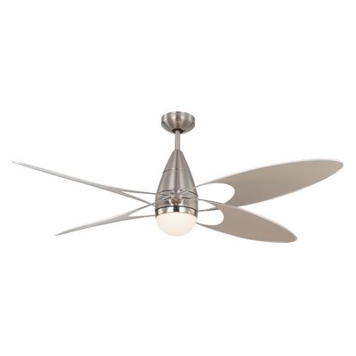 54 Clorinda Butterfly 4 Blade Outdoor Ceiling Fan with Remote