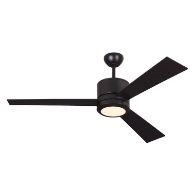 52 Fort Washington 3 Blade LED Ceiling Fan with Remote Finish: Oil Rubbed Bronze
