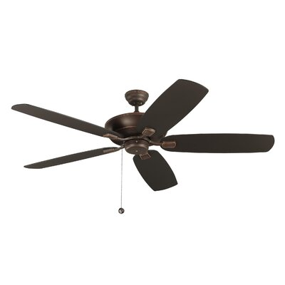 11.5 Garron 5 Blade Ceiling Fan with Remote Finish: Roman Bronze