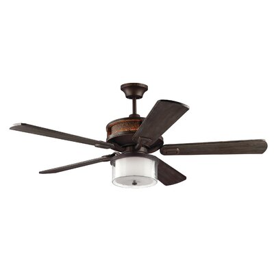 56 Beauchemin 5 Blade LED Ceiling Fan with Remote