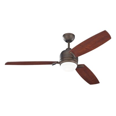 52 Muirfield 3 Blade Ceiling Fan with Remote Motor Finish: Roman Bronze