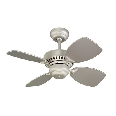 28 Stewardson 4-Blade Ceiling Fan Finish: Brushed Pewter with Silver Blades