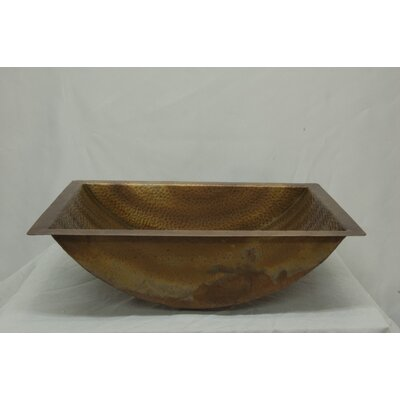 Canoe Hammered Copper Rectangular Undermount Bathroom Sink