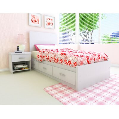 Buy low price willow storage bed in frost white size full for Cheap white twin bed
