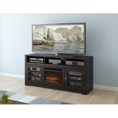 "dCOR design West Lake 60"" TV Stand with Electric Fireplace - Finish: Warm Black at Sears.com"