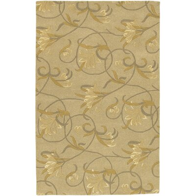 Southport Beige/Gold Area Rug Rug Size: Round 79