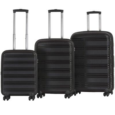 CalPak Cambridge 3 Piece Luggage Set - Color: Black