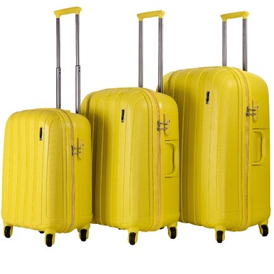CalPak Paradise Hardsided 3 Piece Spinner Luggage Set - Color: Yellow at Sears.com