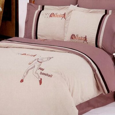 Baseball 6 Piece Full/Queen Duvet Cover Set
