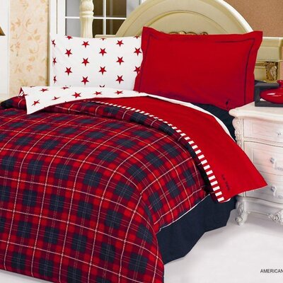 American Dream 4 Piece Twin Duvet Covet Set