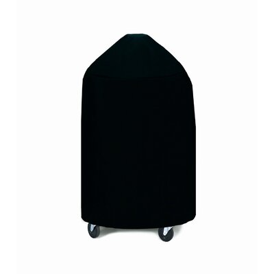 Medium Round Grill and Smoker Cover Fabric: Black