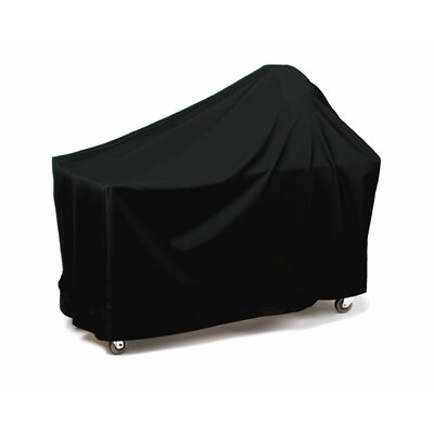 Round Grill with Long Table Cover Fabric: Black