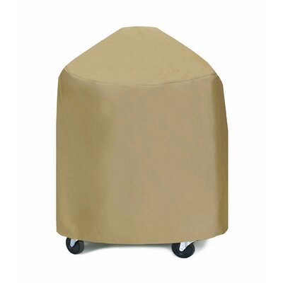 Extra Large Round Grill / Smoker Cover Fabric: Khaki