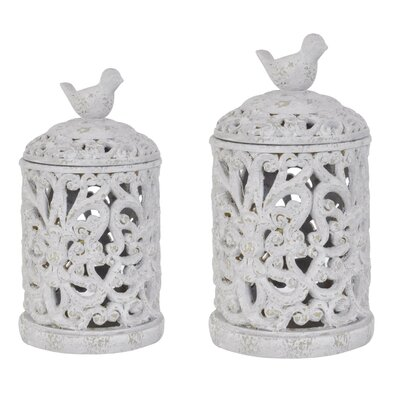 French Regent 2 Piece Birdsong Canisters
