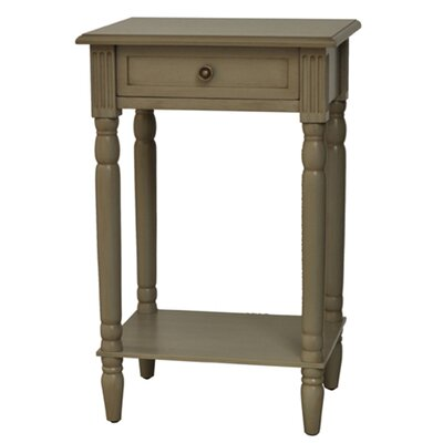 Vivid End Table Color: Gray image