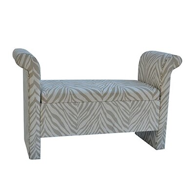 Safari Upholstered Zebra Bedroom Bench image