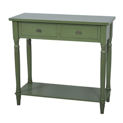 Treasure Console Table Color: Sage Green image
