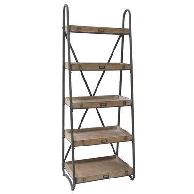 Voyager Metal and Wood Tiered 67 Etagere Bookcase