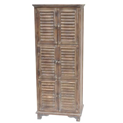 Jackson 6 Door Weathered Oak Cabinet