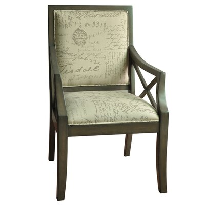 Driftwood French Script X-Armchair