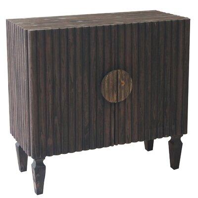 Dakota 2 Door Ribbed Wood Cabinet CVFZR874