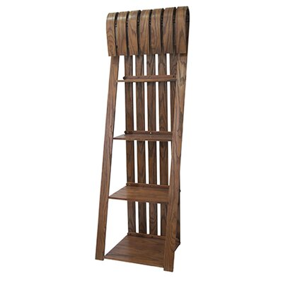 Deer Run Sled 72 Leaning Bookcase