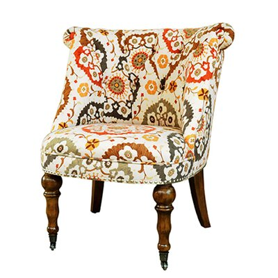 Hutchison Pattern Fabric Slipper Chair