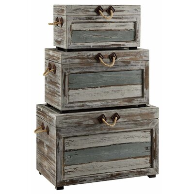 Nantucket 3 Piece Weathered Wood Trunk Set