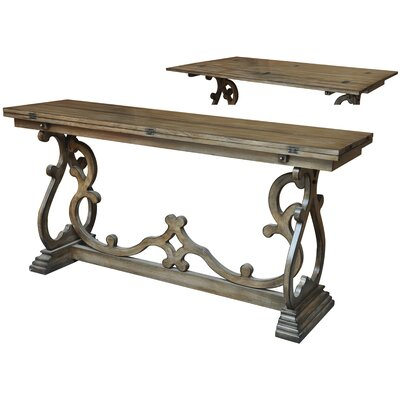 Monticello Leg Flip Out Console Table